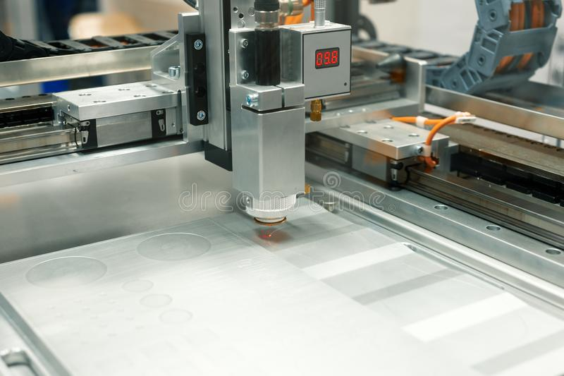 CNC laser cutting machine. stock photo