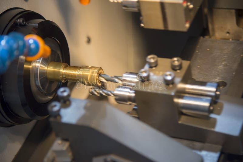 The Small CNC Turning Or Lathe Machine Stock Image - Image of