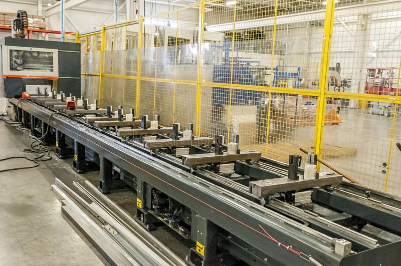 CnC Machine. Manufacturing and assembly factory CnC Machine stock images