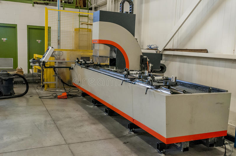 CnC Machine. On a shop floor of a factory stock photos