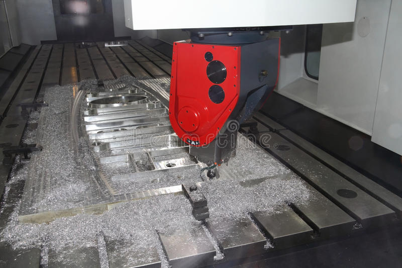 Cnc machine tool stock photo