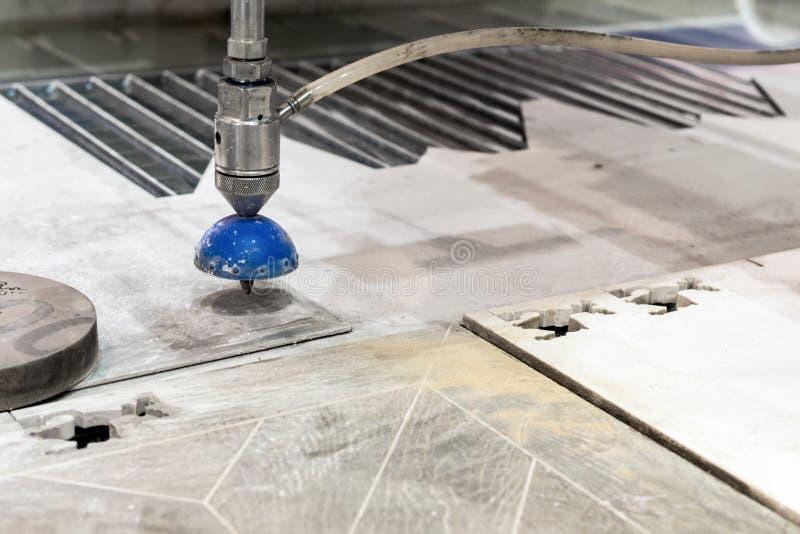CNC machine for waterjet cutting sheet metal. royalty free stock photo