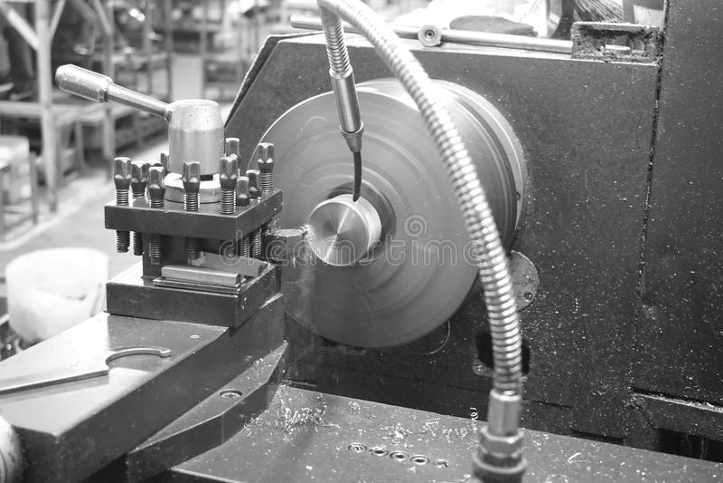 Cnc machineproces stock foto's