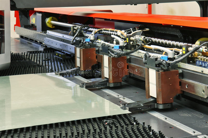 Download Cnc machinery stock image. Image of engineering, plate - 15641013