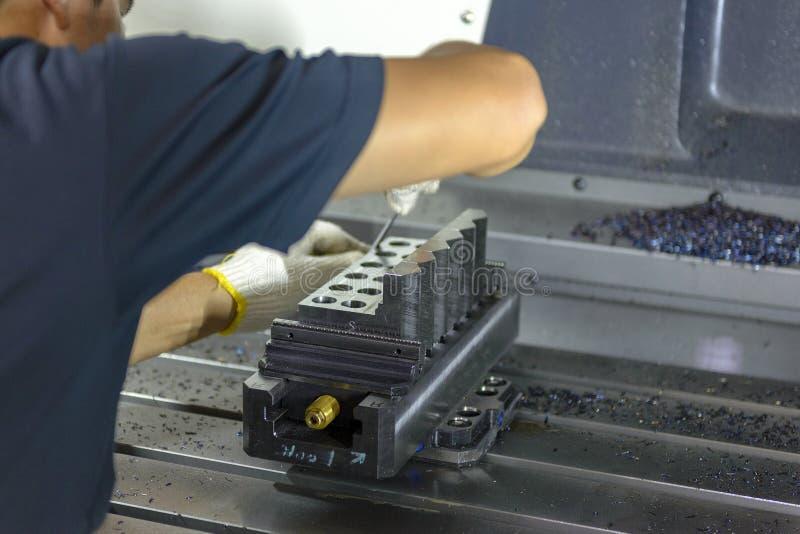 CNC maszynowy operator zdjęcie stock