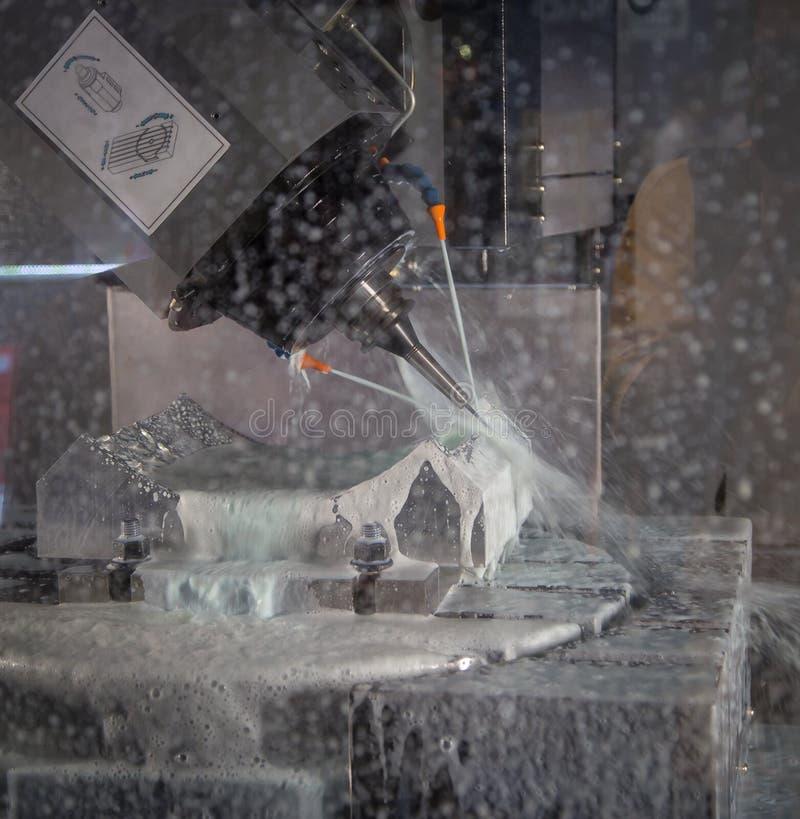 CNC mielenia maszyna zdjęcia stock