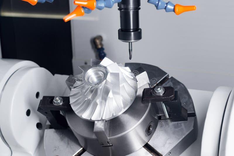 Cnc mielenia maszyna rozdziela podczas manufaktury szczegół zdjęcia stock