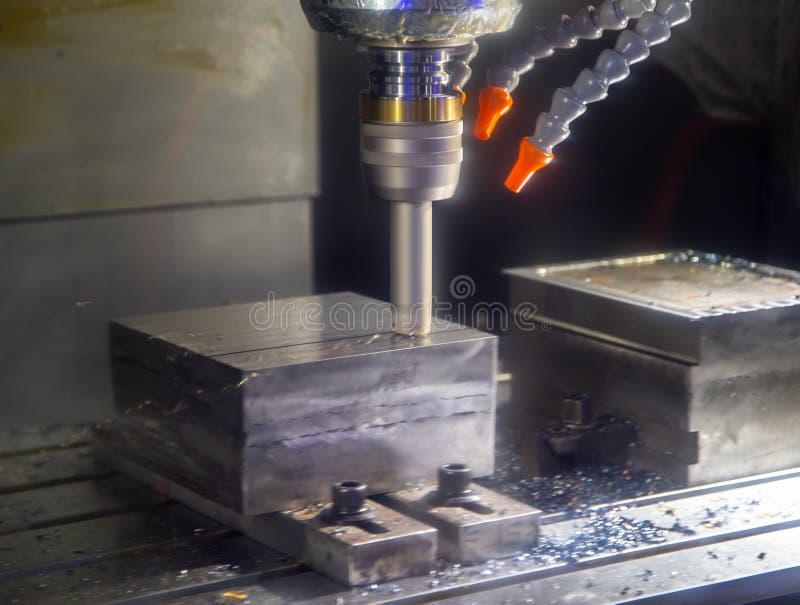 CNC mielenia maszynowego rozcięcia workpiece fotografia royalty free