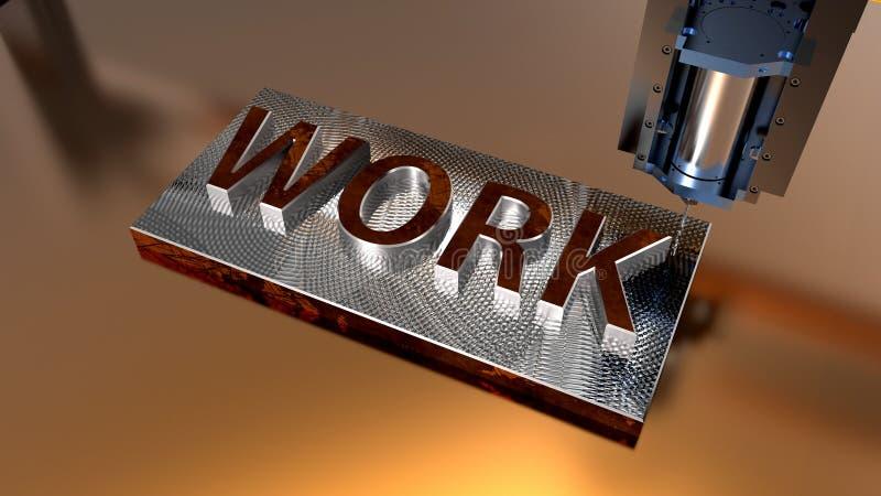 CNC milling machine. Metal working CNC milling machine royalty free stock image