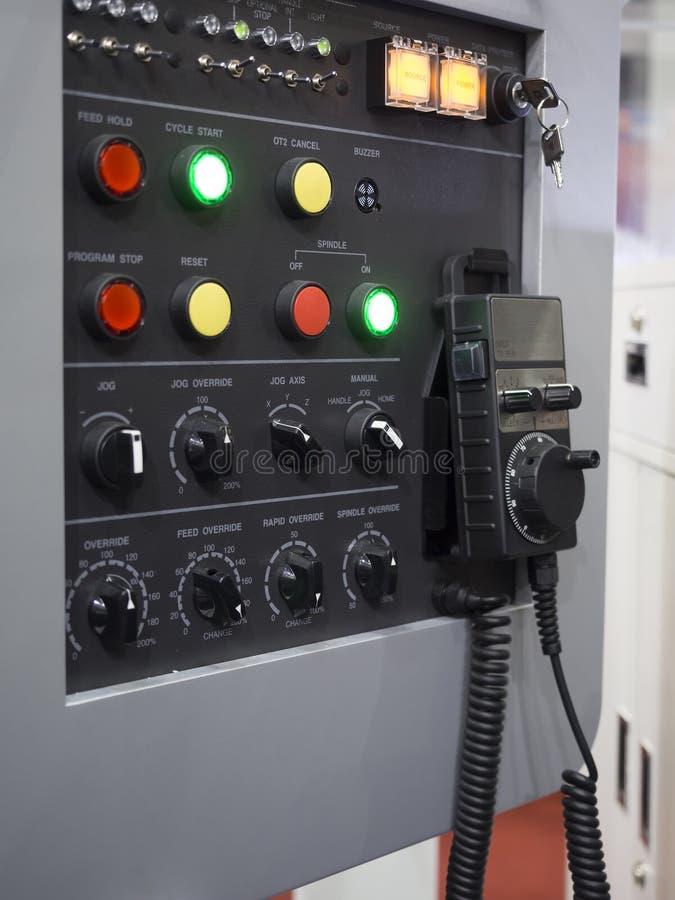 CNC pulpitu operatora Maszynowy zbliżenie obraz royalty free