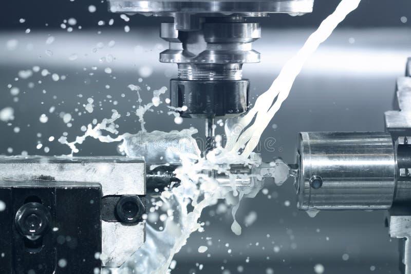 CNC sul lavoro fotografia stock libera da diritti