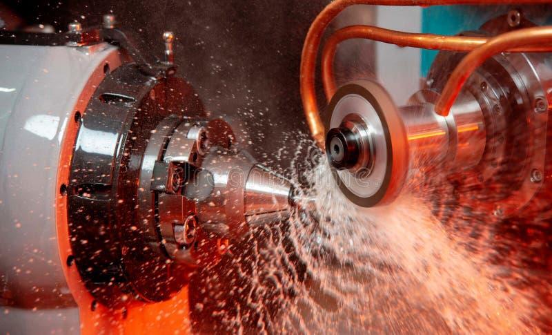 CNC tokarki maszyna Technologii machining poj?cie obraz royalty free