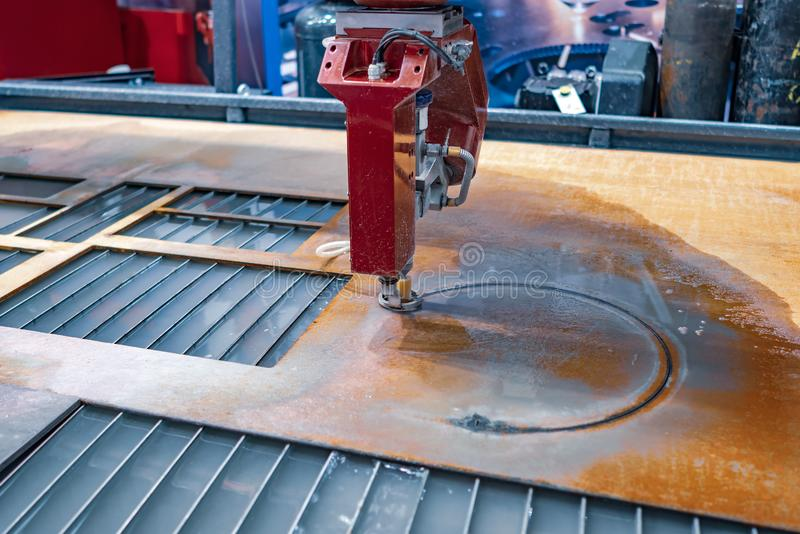 CNC water jet cutting machine stock photos