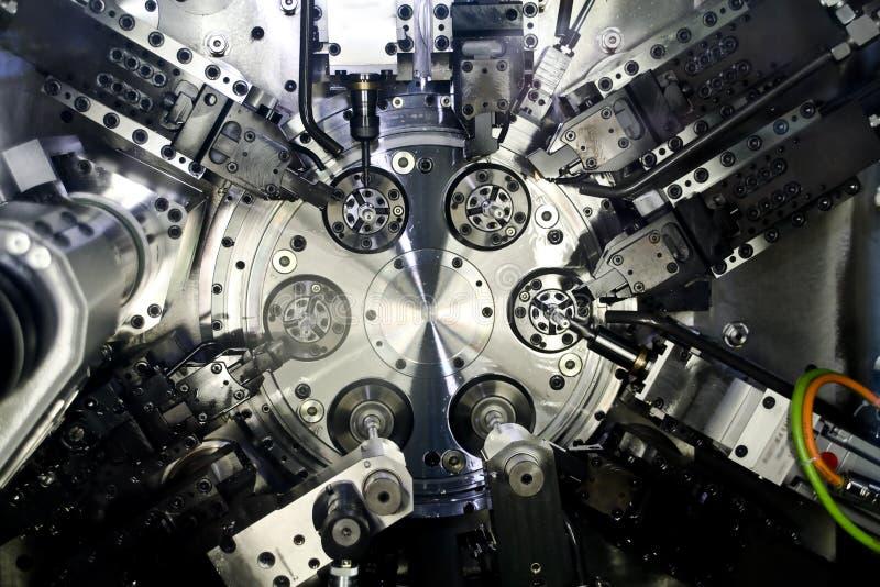 Cnc werktuigmachine stock afbeelding