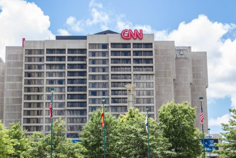 CNN die Atlanta bouwen royalty-vrije stock afbeeldingen