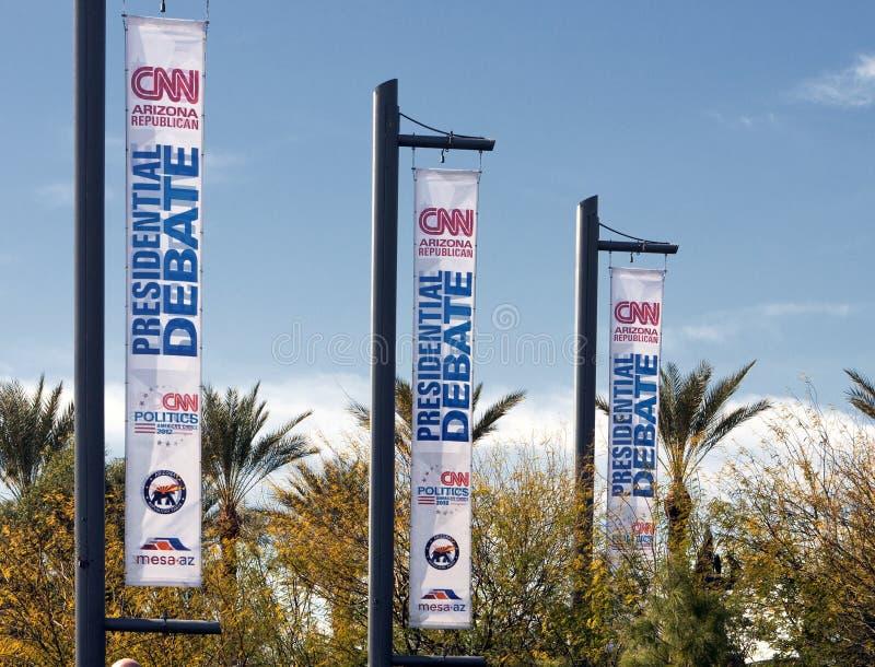CNN-republikanische Präsidentendebatte 2012 lizenzfreies stockbild