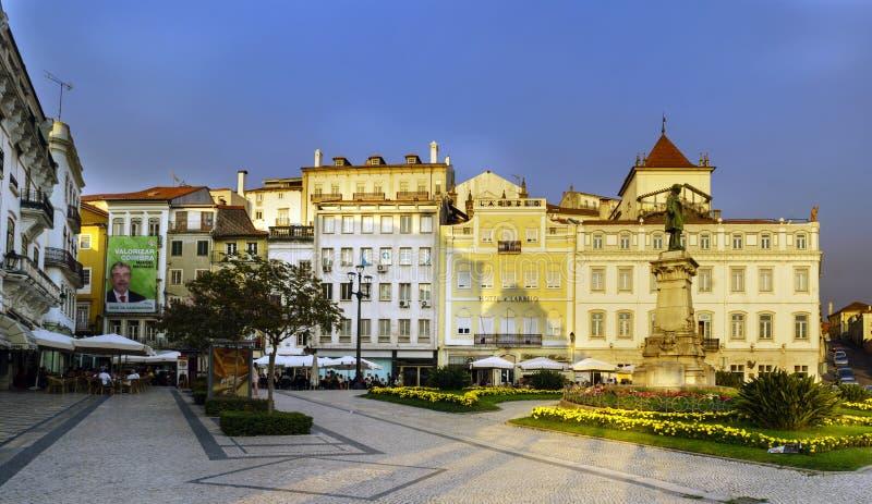 Coímbra, Portugal, el 13 de agosto de 2018: Vista del cuadrado llamado fotografía de archivo libre de regalías