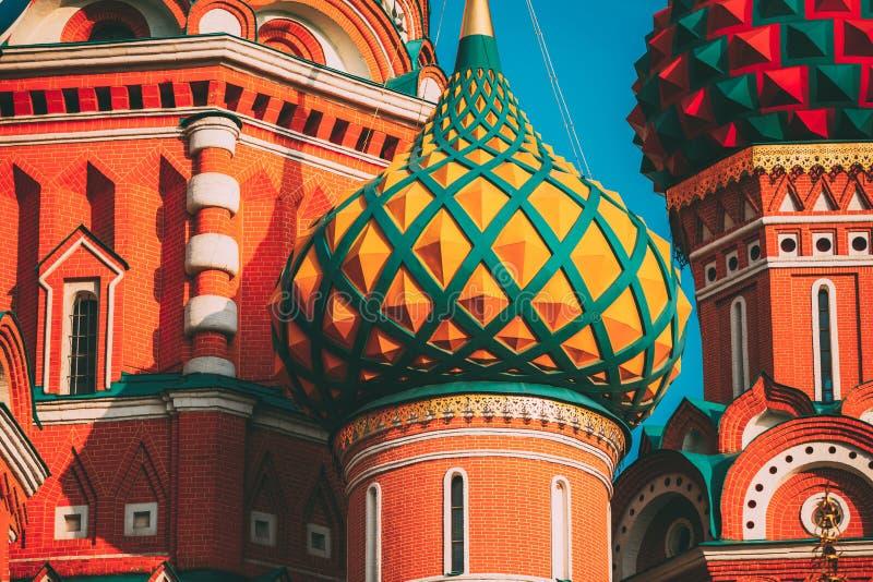 Собор базилика Святого, известная церковь в красной площади в Москве, России стоковое фото rf