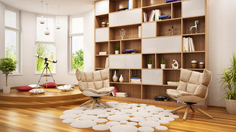 Современная комната для остатков и игры на подросток стоковые изображения