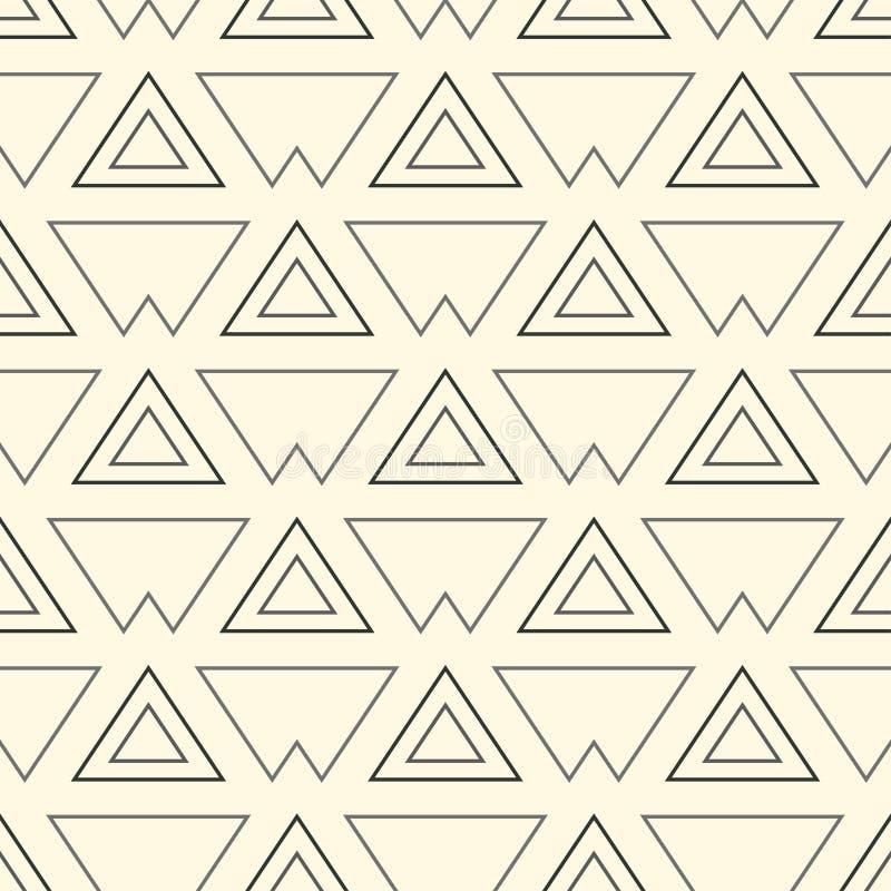 Современная стильная повторяя геометрическая текстура monochrome форм вариантов треугольника в форме решетки Простой и модный бесплатная иллюстрация
