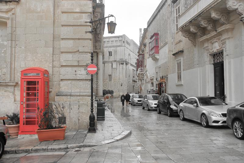 Современная сторона древнего города Mdina на острове Мальты стоковая фотография rf