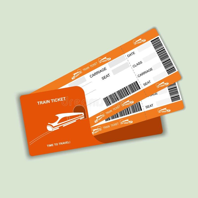 Современные билеты посадочного талона 2 перемещения поезда изолированные на белой предпосылке бесплатная иллюстрация
