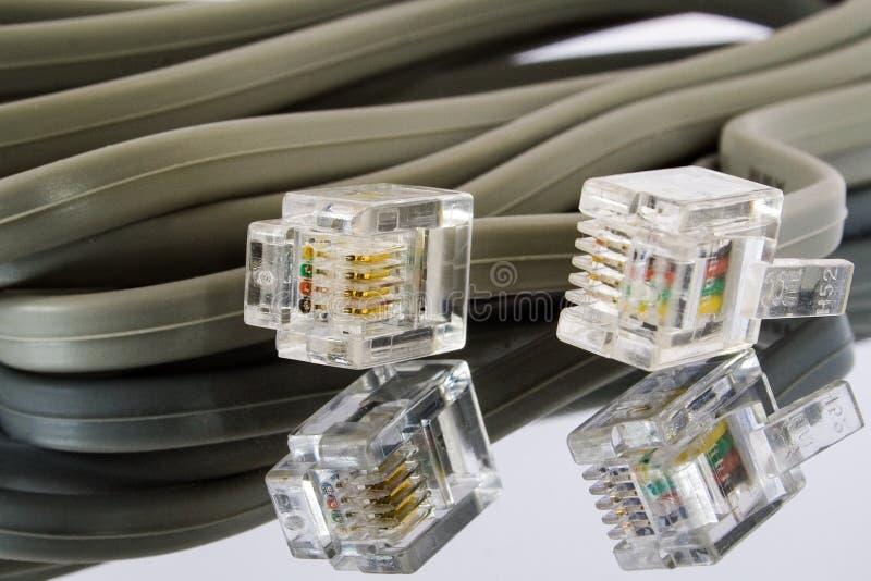 Соединители кабеля ethernet стоковая фотография