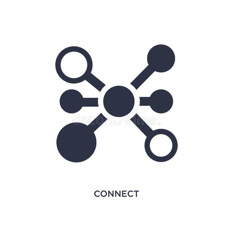 соедините значок на белой предпосылке Простая иллюстрация элемента от концепции этик иллюстрация вектора