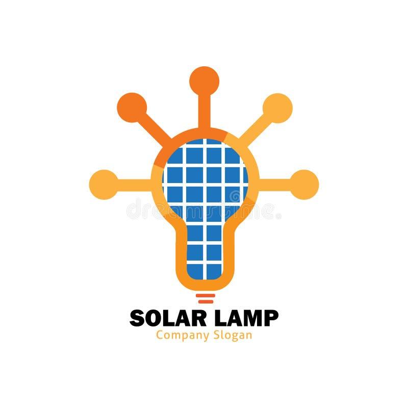 Солнечный логотип лампы иллюстрация вектора