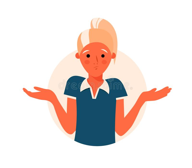 Сомнения девушки мультфильма милые, думают почему маркируйте женщину вопроса также вектор иллюстрации притяжки corel бесплатная иллюстрация