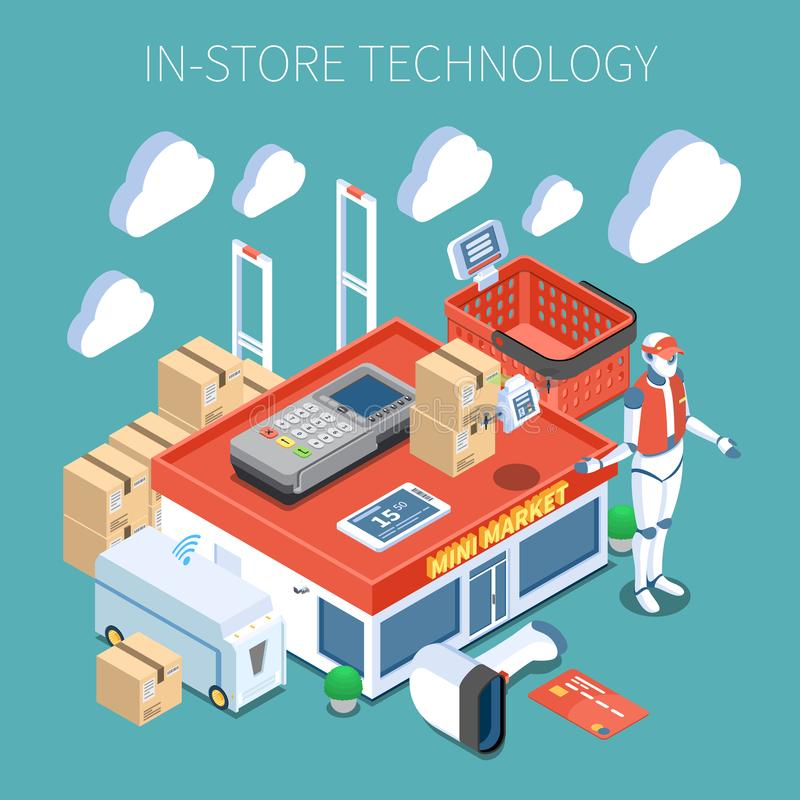 Состав технологии магазина равновеликий иллюстрация штока