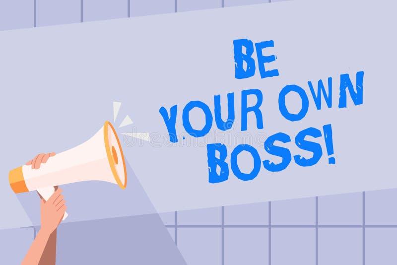 Сочинительство текста почерка ваш собственный босс Компания начала смысла концепции работая не по найму запуск предпринимателя ра иллюстрация вектора