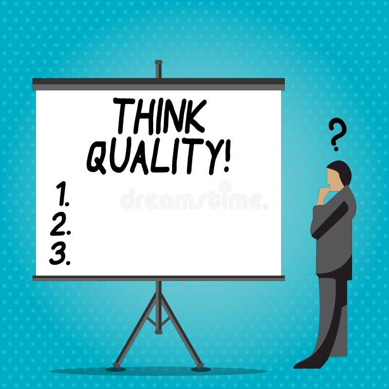 Сочинительство текста почерка думает качество Смысл концепции думая идей новаторских ценных решений успешных иллюстрация вектора