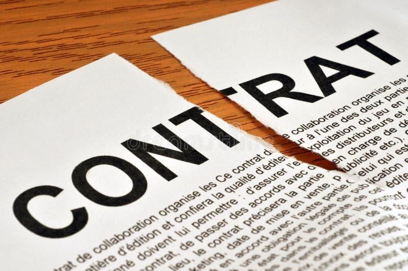 Сорванный французский контракт стоковое фото rf