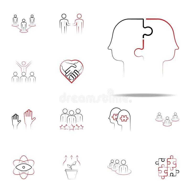 coördinatief verhouding gekleurd hand getrokken pictogram Voor Web wordt geplaatst dat en het mobiele algemene begrip van teampic royalty-vrije illustratie
