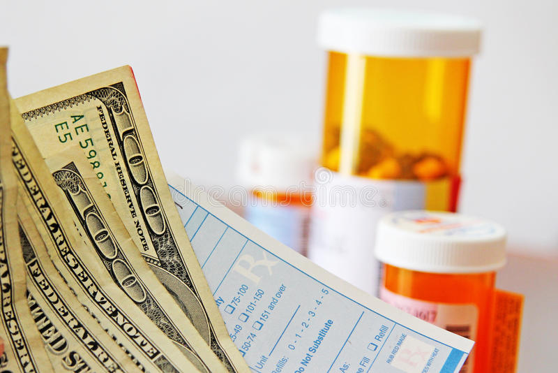 Coût de médecine photo libre de droits