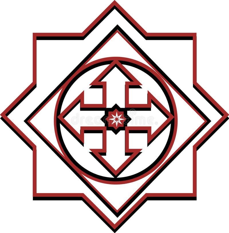 Coût par logo de mille illustration de vecteur