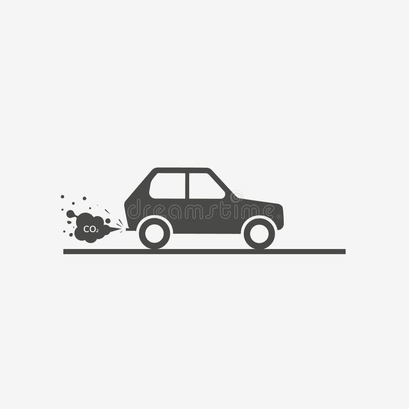 CO2 εξάτμισης αυτοκινήτων απεικόνιση αποθεμάτων