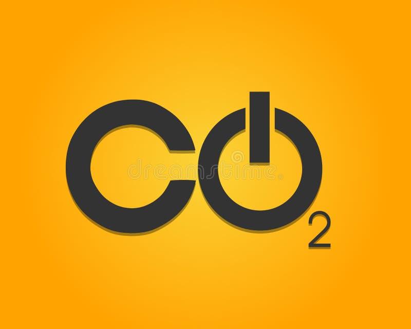 CO2 An-/Aus-Schalter vektor abbildung