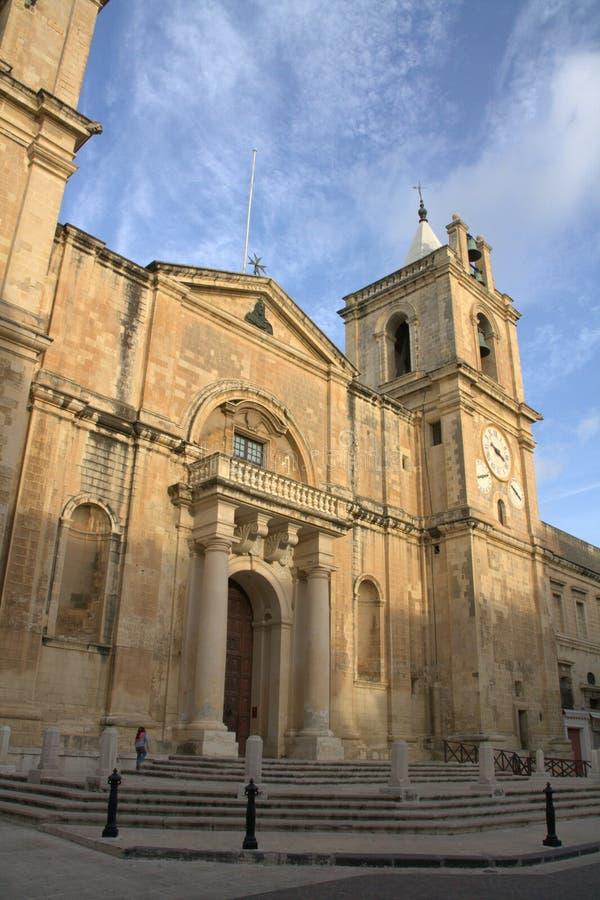 Co-Catedral de San Juan, Malta imágenes de archivo libres de regalías