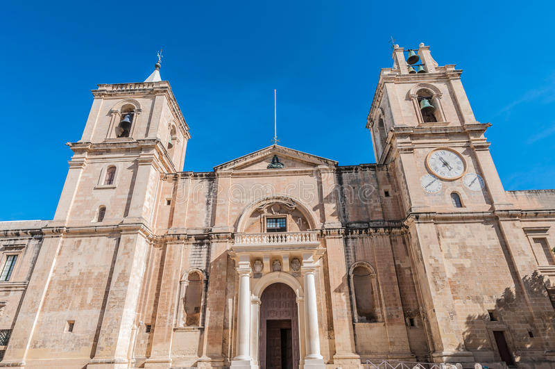 Co-cathédrale du ` s de St John à La Valette, Malte images libres de droits