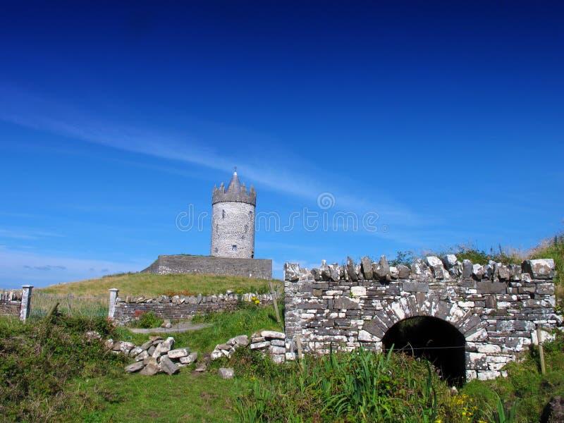Co. Clare Ierland Van Doolin Van Het Kasteel Van Doonagore Stock Afbeeldingen
