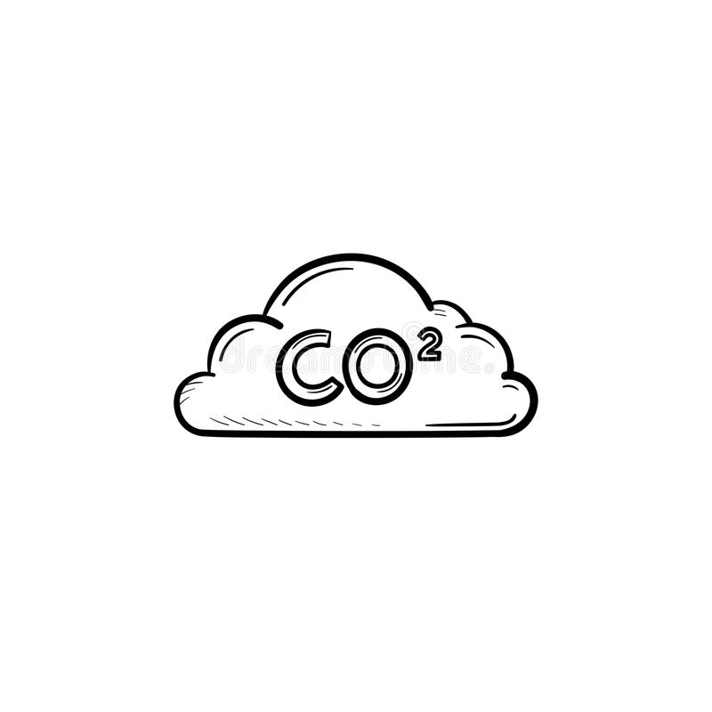 Download CO2 Cloud Hand Drawn Sketch Icon. Stock Vector - Illustration of greenhouse, chemistry: 111448035