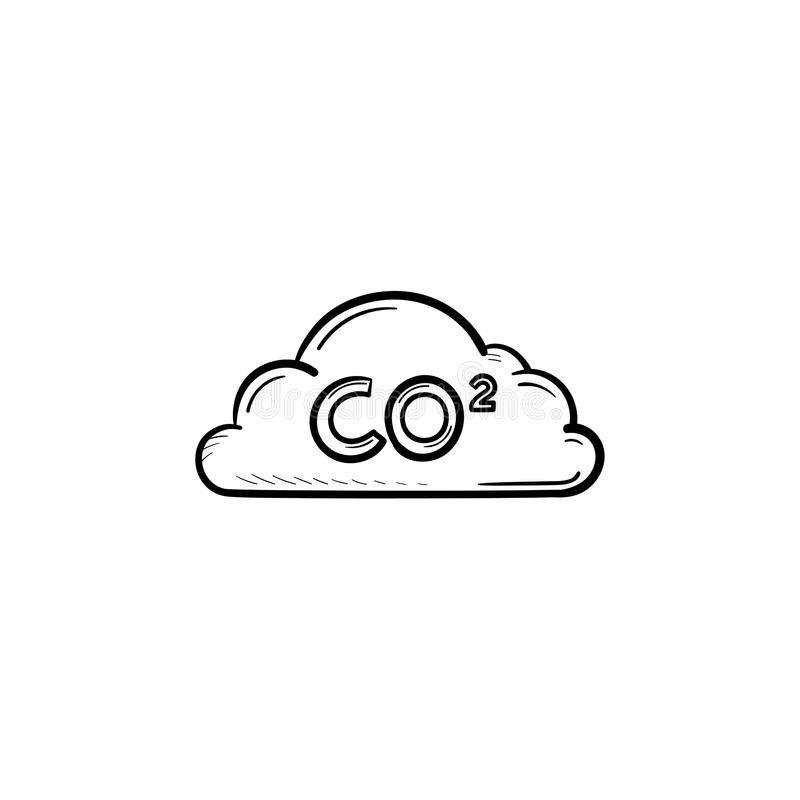 Download CO2 Cloud Hand Drawn Sketch Icon. Stock Vector - Illustration of concept, global: 111448108