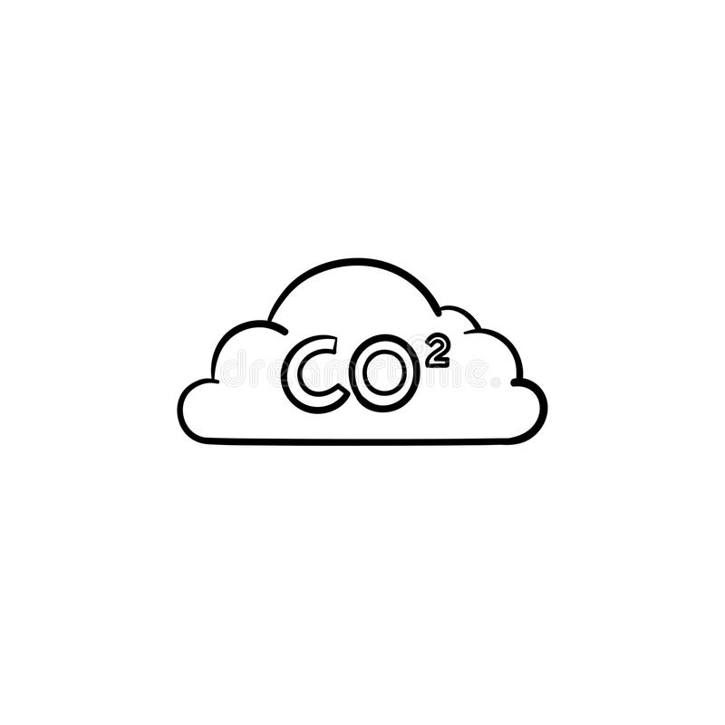 Download CO2 Cloud Hand Drawn Sketch Icon. Stock Vector - Illustration of industry, climate: 115072757