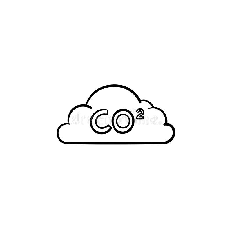 Download CO2 Cloud Hand Drawn Sketch Icon. Stock Vector - Illustration of cloud, environment: 115073279