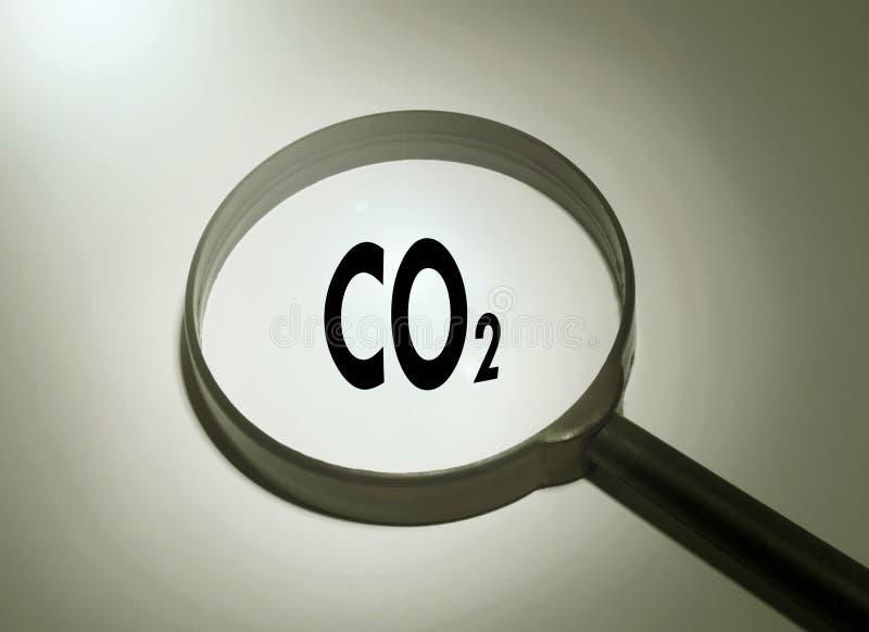CO2 del diossido fotografia stock libera da diritti