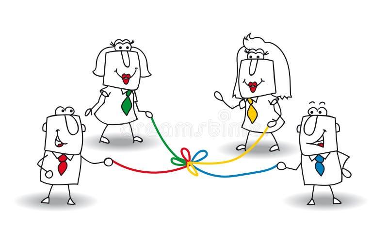 Co-desenvolvimento ilustração royalty free