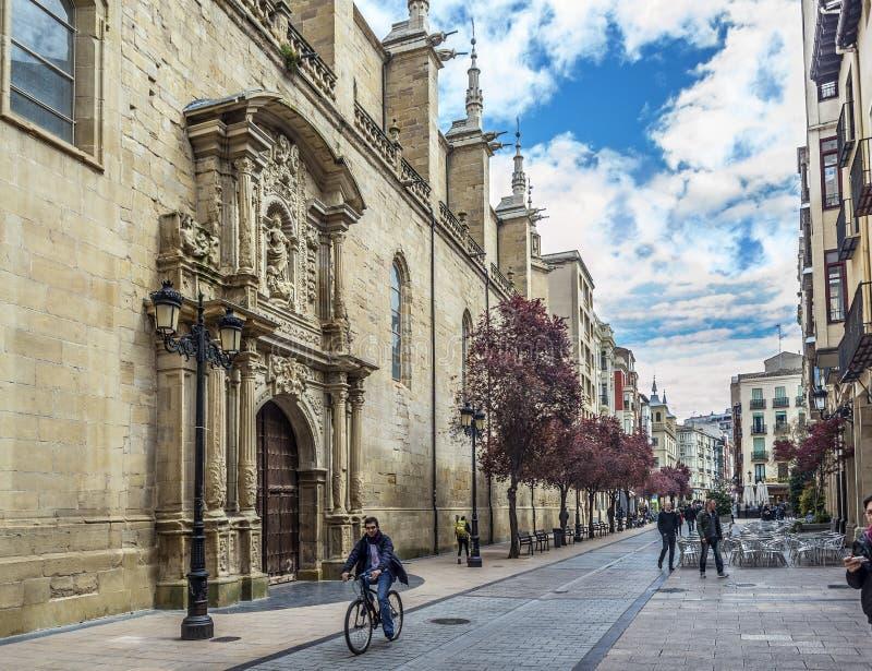 Co-domkyrka av Santa Maria de la Redonda av Logroño, Spanien royaltyfri bild