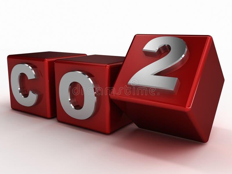 CO2 e conceito ambiental dos gáses de estufa ilustração royalty free
